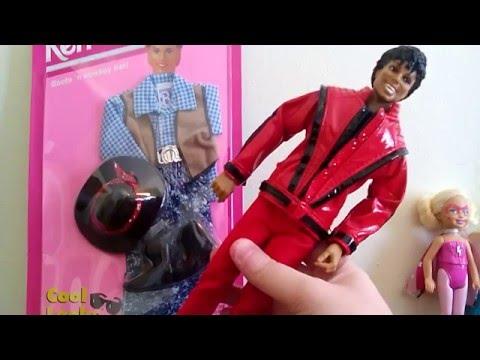 Goodwill Toy Shopping Retro Vintage 1994 Barbie Ken Michael Jackson Cowboy Doll Mashup