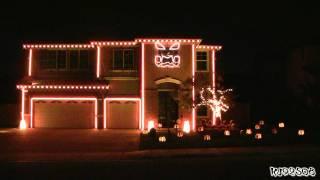 Casas decoradas para Halloween con un juego de luces al ritmo de la música