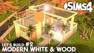 Die Sims 4 Haus Bauen Modern White Wood Villa 5 Let S Build