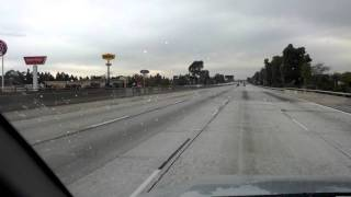 Driving on the 60 freeway after the tanker truck fire and freeway closure 12/17/11