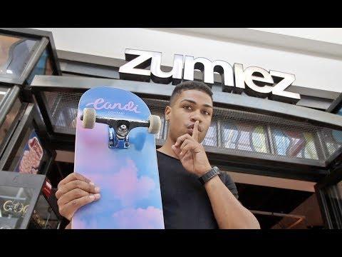Skateboarding Inside Zumiez