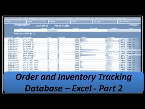 Excel VBA - Orders and Inventory - Excel 2013 - Part2