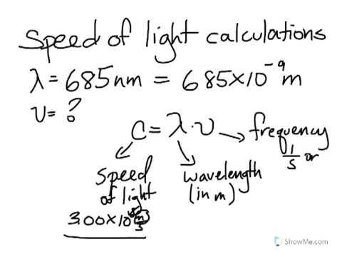 speed of light calculation