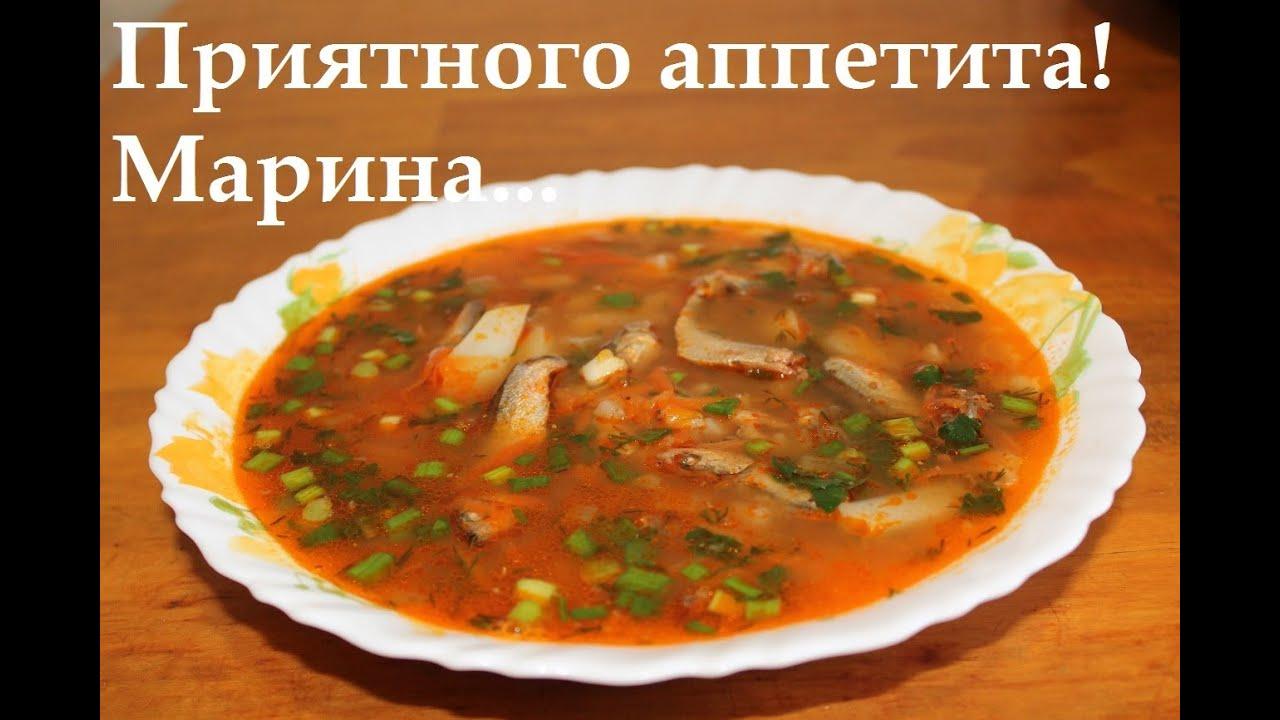 Суп из кильки в томатном соусе рецепт с вермишелью пошагово