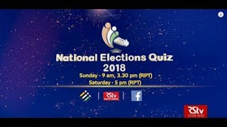 National Elections Quiz 2018 | Curtain raiser
