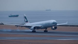 Cathay Pacific Airways Airbus A330-343 Landing & Take off at Nagoya