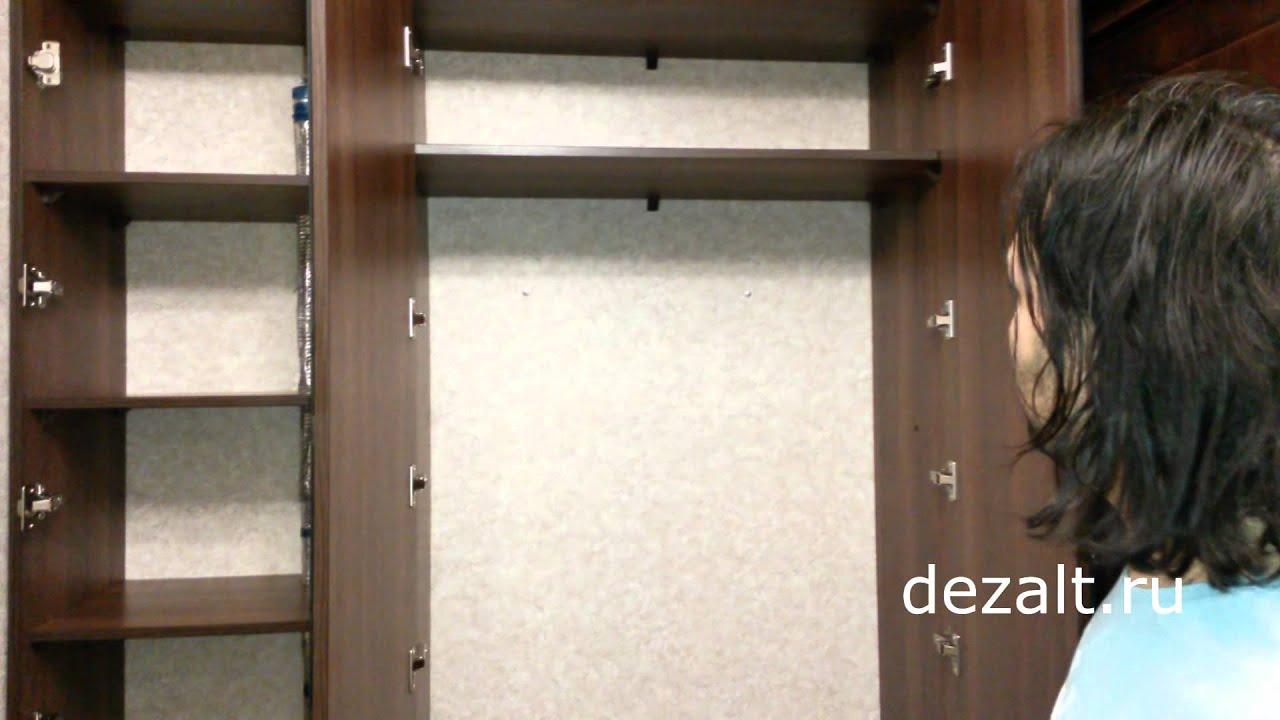 Шкаф встроенный с распашными зеркальными дверьми - shkarko.
