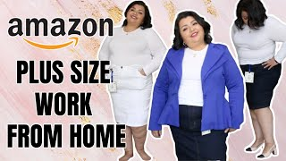 Work From Home Outfits | Plus Size Amazon Fashion Haul