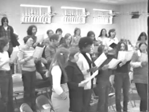 """Ulster County Community College Choris Choir """"Hallelujah"""" """"The Riddle Song"""" 1974   Sony PortiPac"""