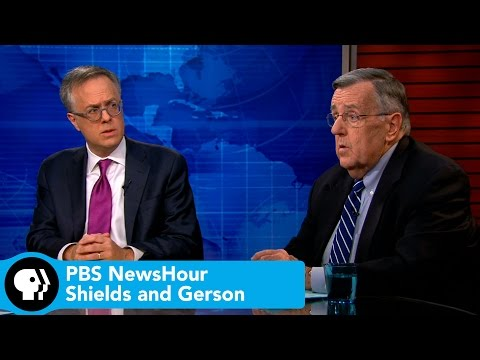 PBS NewsHour | Shields and Gerson on Ebola as election issue, Florida's fan fight