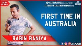 First Time in Australia | Nepali Stand-up Comedy | Babin Baniya | Nep-Gasm Comedy Australia