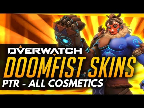 Overwatch | DOOMFIST SKINS, EMOTES, INTROS & MORE [ALL COSMETICS]