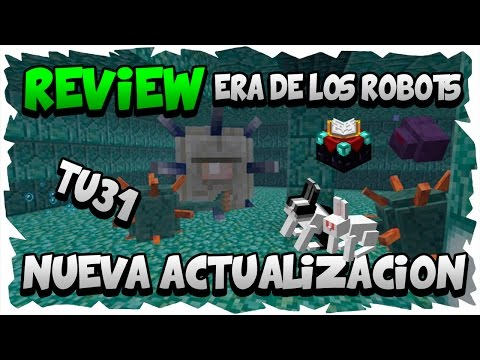 Review de la Actualizacion TU31   ERA DE LOS ROBOTS   Minecraft Xbox 360/One/Ps3/Ps4/Vita