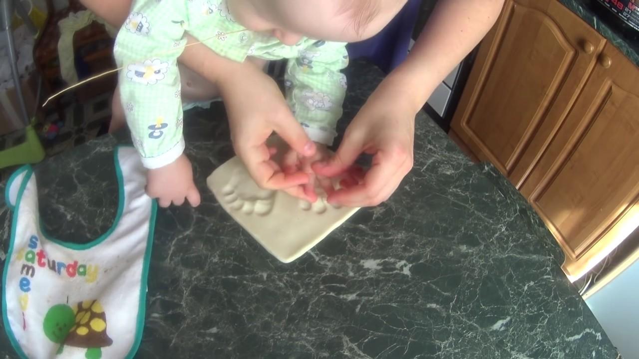 Как сделать слепок ножки ребенка из массы
