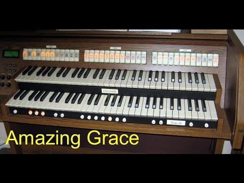 AMAZING GRACE - Full ORGAN, Chimes and Harmonization