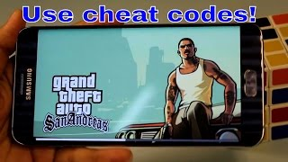 How to use cheat code in GTA San Andreas on Android 2016 (NO ROOT)