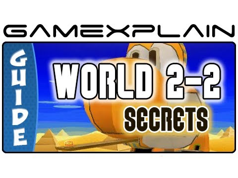 Paper Mario Sticker Star: World 2-2 Guide & Walkthrough (Puzzles & Secrets)