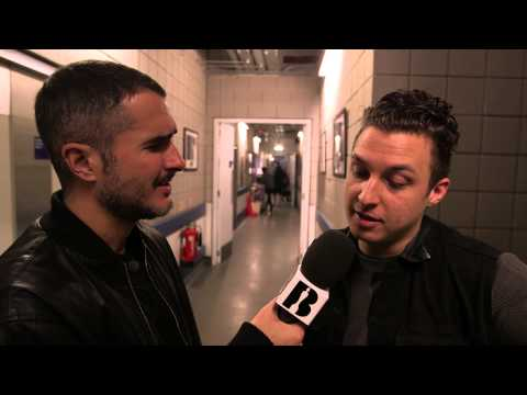 Zane Lowe with The Arctic Monkeys | Backstage At The BRITs 2014