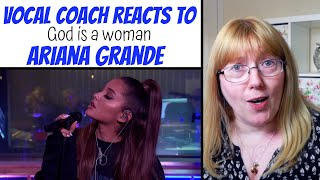 Vocal Coach Reacts to God is a Woman Ariana Grande Live Lounge