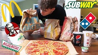 EVERY FAST FOOD CHALLENGE!   Epic Cheat Meal   5000 Calories