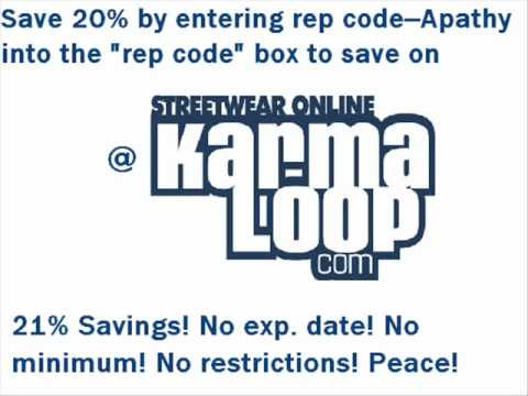 Karmaloop & PLNDR Rep Code: APATHY
