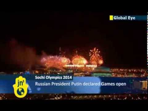 Sochi Winter Olympics Opening Ceremony: Fireworks light up skies above Russian host city