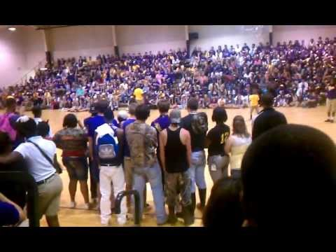 the prep rally at Franklinton high school