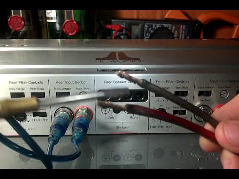 Como conectar un amplificador de carro   (4 canales)