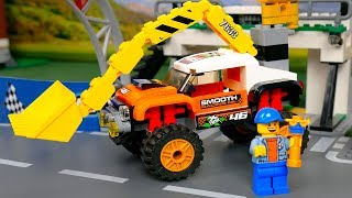 Lego Experimental Racing Cars .  Brick Building Animation for Kids police cars