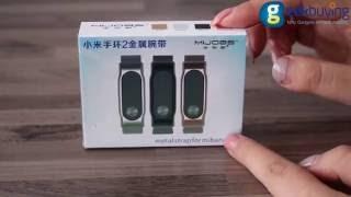 Mijobs Metal Strap for Xiaomi Mi Band 2