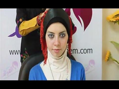 سمر الهوانم ..لفة حجاب سواريه بسيطة مع ياسمين محسن