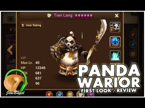 SUMMONERS WAR : Panda Warriors First Look / Review (wind, water, fire, light, dark)