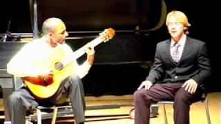"Tanner Richie singing ""Visions"" by Stevie Wonder (Keita is accompanying me on guitar)"