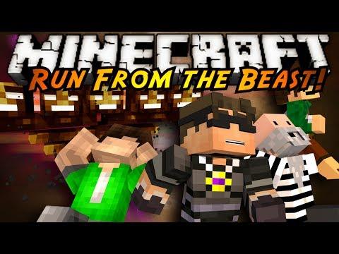 Minecraft Mini-Game : RUN FROM THE BEAST 2.0!