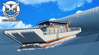 New Custom Ship Build VS Tsunami! - Stormworks Gameplay - Sinking Ship Survival