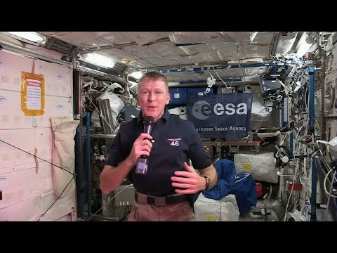 Tim's first talk with media from space