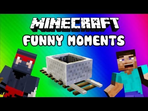Minecraft Funny Moments Minecart Fun Scaring Delirious w Ghasts Fails Epic NOOB Adventures