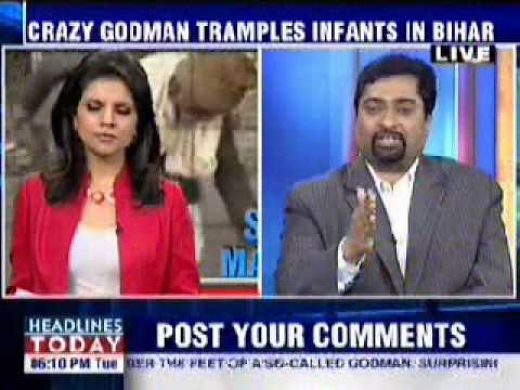 Sanal Edamaruku on Godman trampling on infants (English) Video