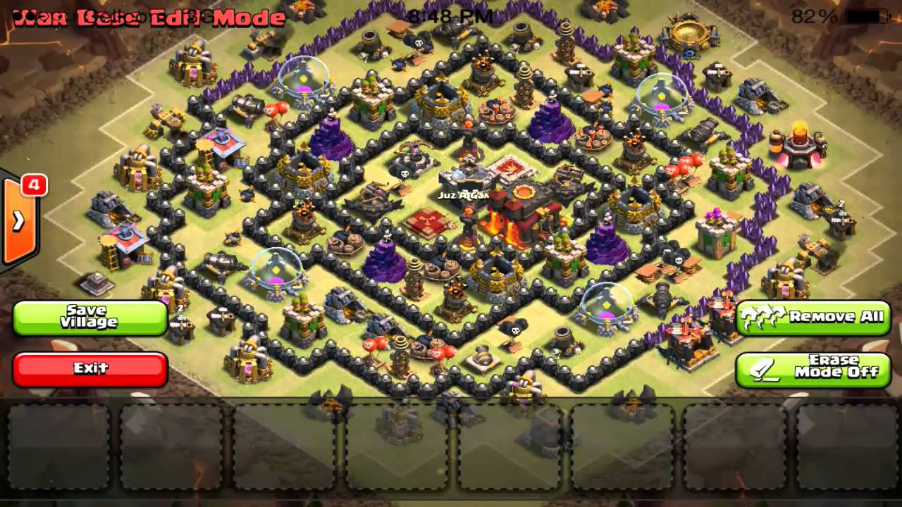 Clash of clans awesome town hall 10 anti hog rider base youtube