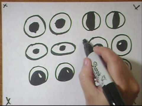 Drawing Eyes Tutorial Part 1- To replace googly eyes