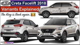 Creta Facelift 2018 Variants Explained | New Creta 2018 E Base,E Plus,S,Sx,SXO Model Features