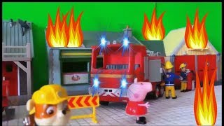 Fireman Sam's Best Episodes with Jupiter Fire Engine, Peppa Pig and Paw Patrol