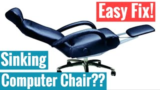 How To Fix Sinking Computer Chair - Free Household Items