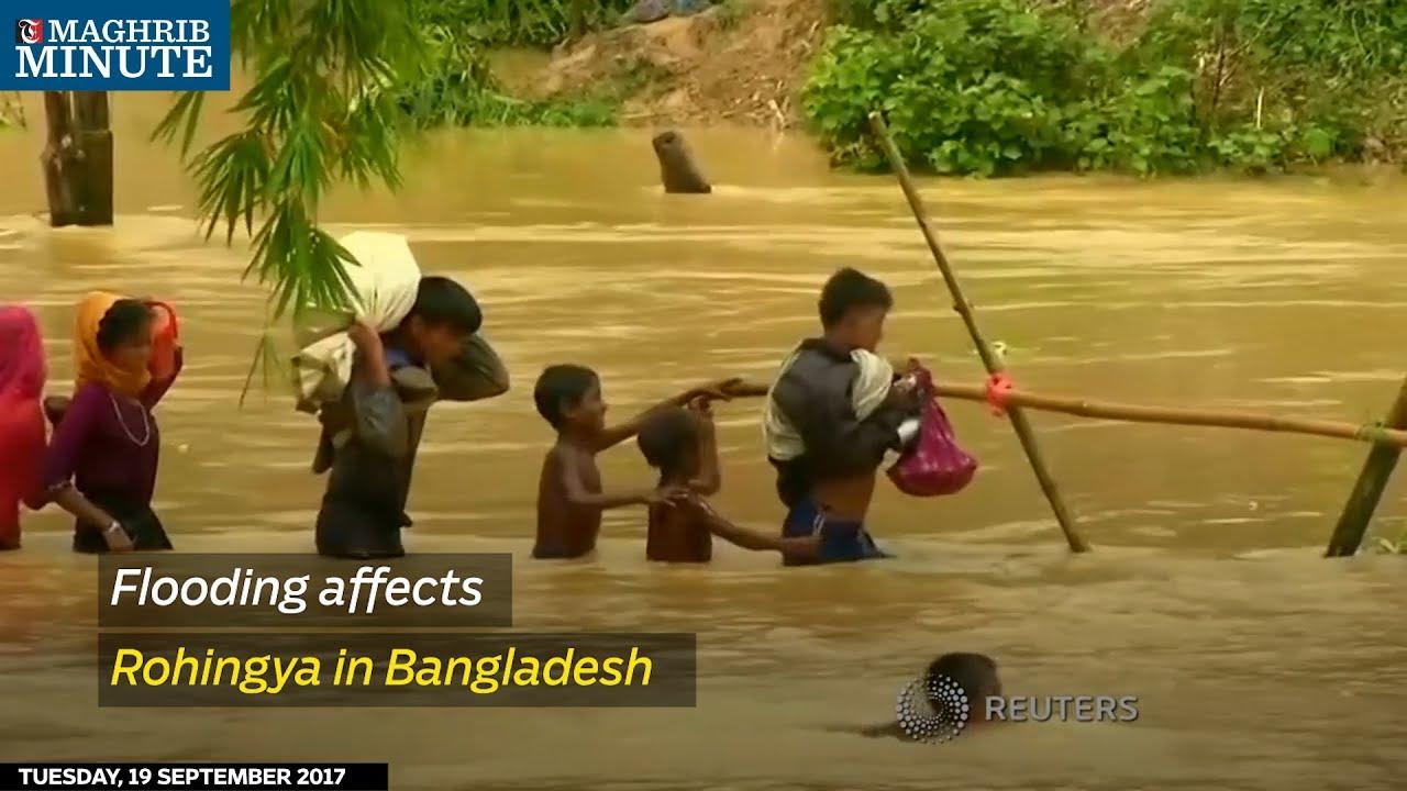 Flooding affects Rohingya in Bangladesh