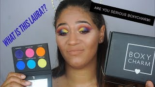 August 2018 Boxycharm Unboxing | Try on style | Laura Lee Party Animal palette | Noe Elle