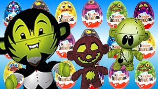 Киндер Сюрпризы головастики Хэллоуин Kinder Surprise 2014 Halloween Eggs and Moshi Monsters