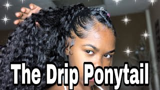 Invisible Ponytail Tutorial Using Rubber Bands ft Sunber Hair