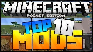 TOP 10 MODS - MINECRAFT PE 0.15.0/0.15.1