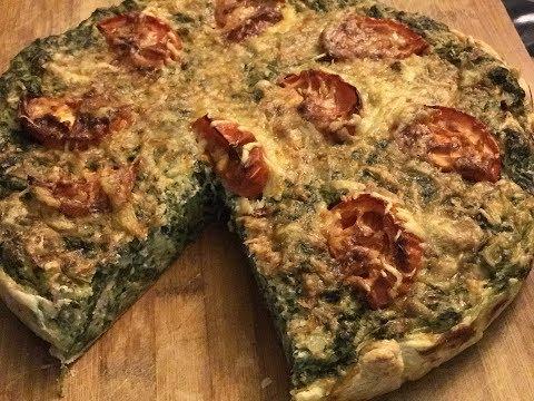 ТАРТ со ШПИНАТОМ и ТУНЦОМ/ Изумительно вкусный пирог,советую приготовить