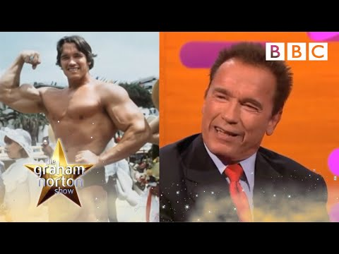 http://www.bbc.co.uk/programmes/b01nhchp Graham chats with the guests about their workout routines & Arnold Schwarzenegger's days of bodybuilding.